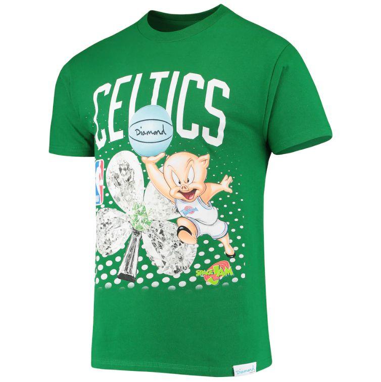 "DIAMOND SUPPLY CO - Camiseta Space Jam Boston Celtics ""Verde""  -NOVO-"
