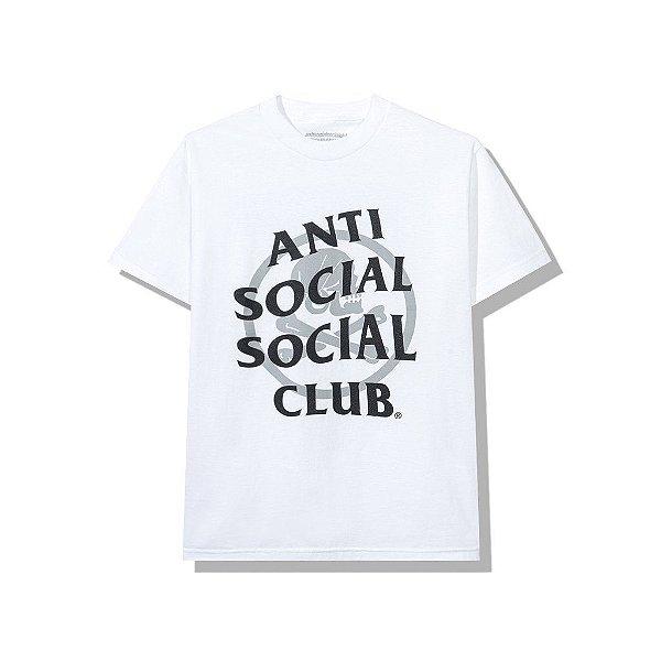 "ANTI SOCIAL SOCIAL CLUB x NEIGHBORHOOD - Camiseta Cambered ""Branco"" -NOVO-"