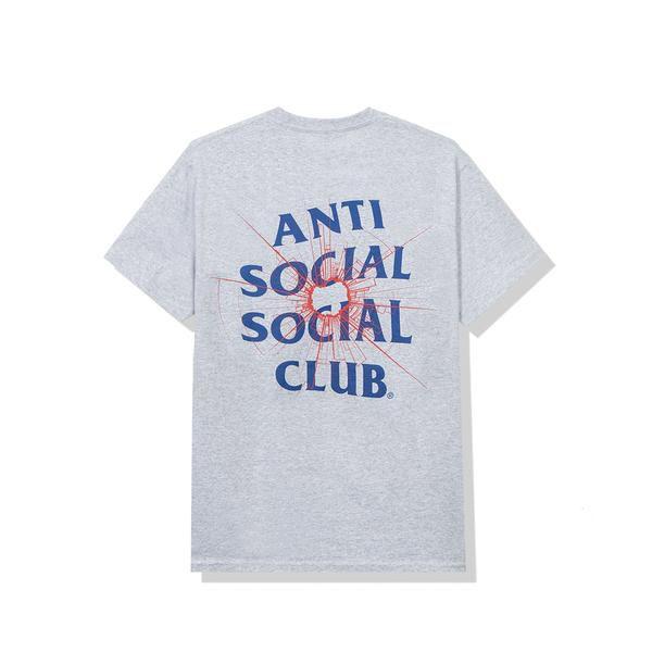 "ANTI SOCIAL SOCIAL CLUB - Camiseta Theories ""Cinza"" -NOVO-"