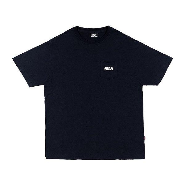 """HIGH - Camiseta Pocket Toy """"Preto"""" -NOVO-"""