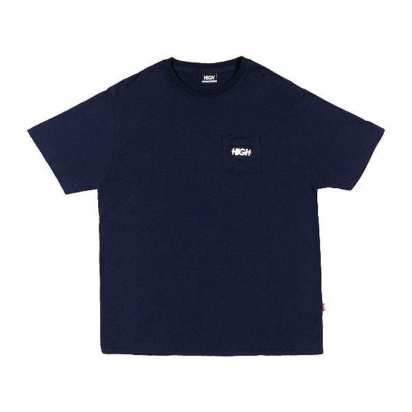 """HIGH - Camiseta Pocket Toy """"Marinho"""" -NOVO-"""