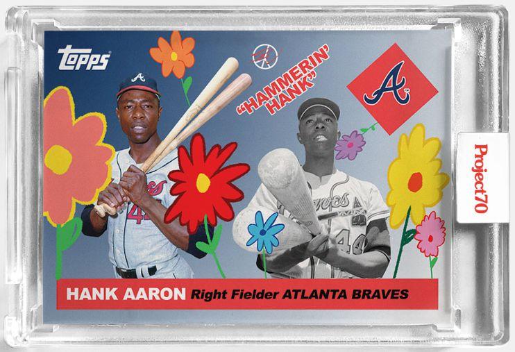 "!TOPPS PROJECTS x SEAN WOTHERESPOON - Card Of Baseball 245 ""Hank Aaron"" -NOVO-"