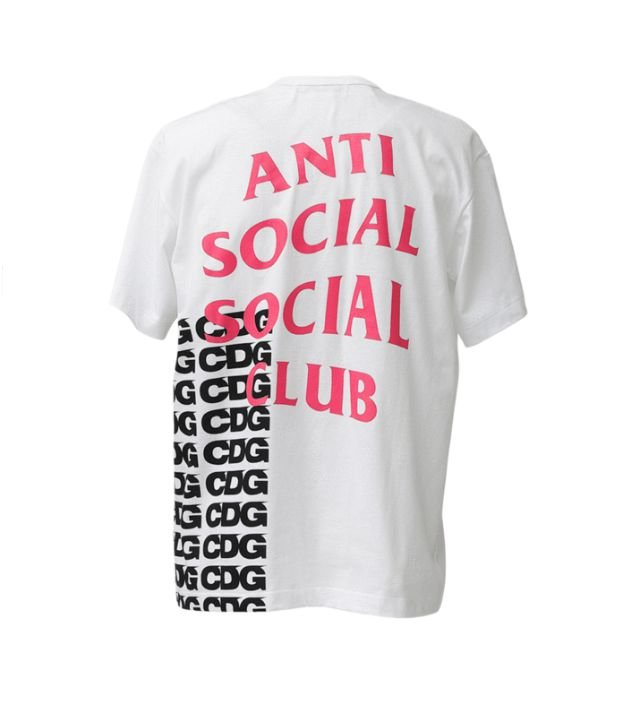 "ANTI SOCIAL SOCIAL CLUB x COMME DES GARÇONS - Camiseta ""Branco"" -NOVO-"