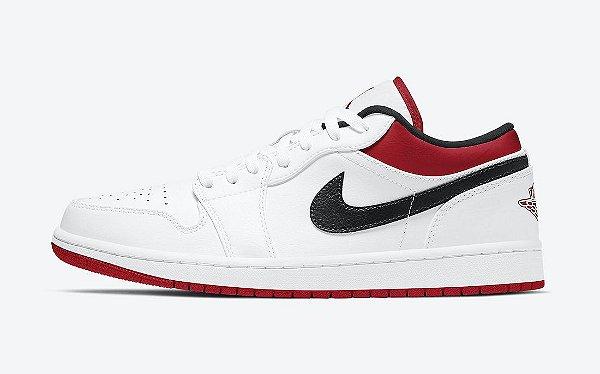 """NIKE - Air Jordan 1 Low """"White/Gym Red"""" -NOVO-"""