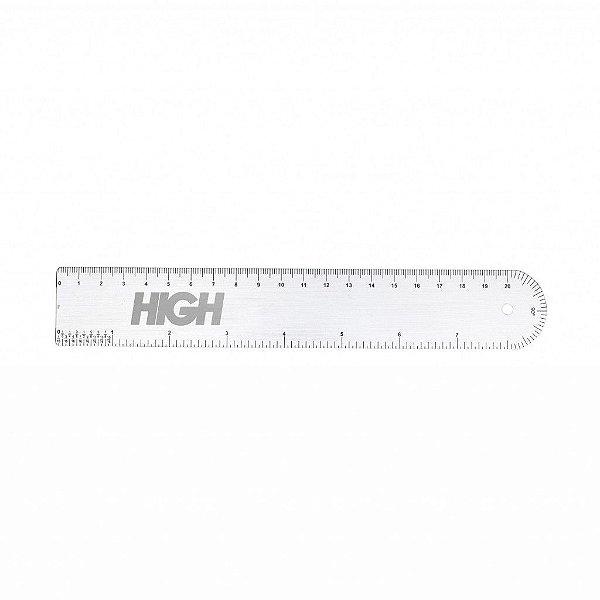 """HIGH - Régua Logo """"Prata"""" -NOVO-"""