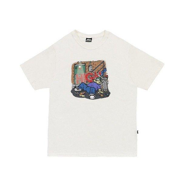 "HIGH - Camiseta Drunk ""Branco"" -NOVO-"