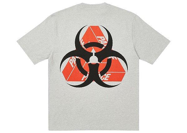 "PALACE - Camiseta Bio Hazard ""Cinza"" -NOVO-"