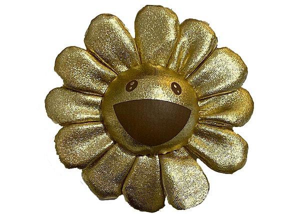 "!TAKASHI MURAKAMI x COMPLEXCON - Pin Flower Plush Pin ""Dourado"" -NOVO-"
