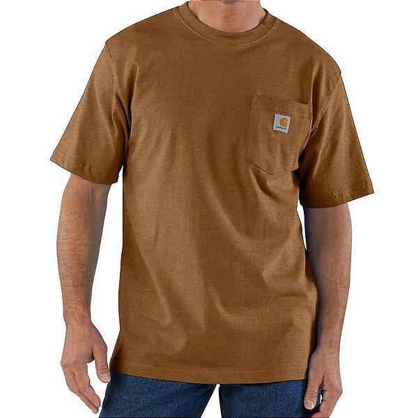 "CARHARTT - Camiseta Pocket Loose Fit ""Oiled Walnut Heather"" -NOVO-"