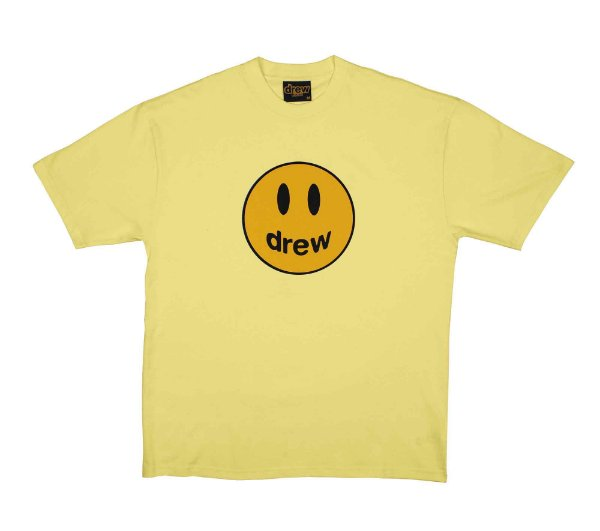 "DREW HOUSE - Camiseta Mascot ""Amarelo Claro"" -NOVO-"