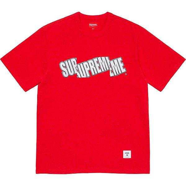 """SUPREME - Camiseta Cut Logo Top """"Vermelho"""" -NOVO-"""