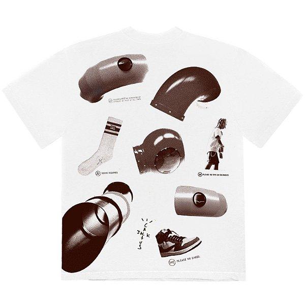 "TRAVIS SCOTT x MCDONALD'S - Camiseta Rules Rules ""Branco"" -NOVO-"