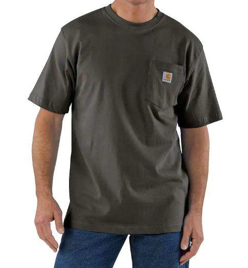 """CARHARTT - Camiseta Pocket Loose Fit """"Peat"""" -NOVO-"""