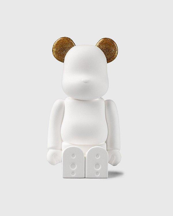 """MEDICOM TOY - Boneco Bearbrick Aroma Ornament NO.9 Galaxy """"Dourado"""" -NOVO-"""