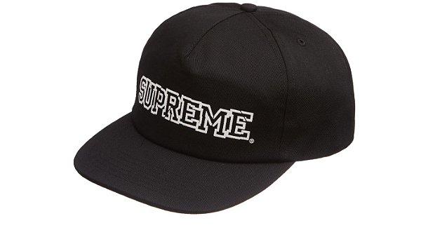 "SUPREME - Boné 5-Panel Shattered Logo ""Preto"" -NOVO-"