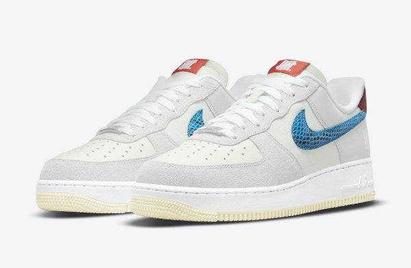 """NIKE x UNDEFEATED - Air Force 1 Low """"5 On It"""" (40,5 BR / 9 US) -NOVO-"""