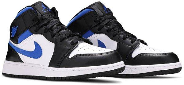 "NIKE - Air Jordan 1 Mid GS ""White/Black/Royal"" -NOVO-"
