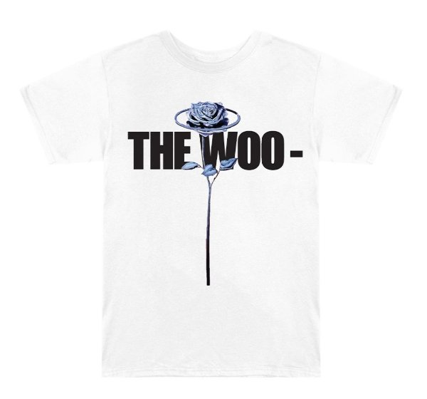"VLONE x POP SMOKE - Camiseta The Woo ""Branco"" -NOVO-"