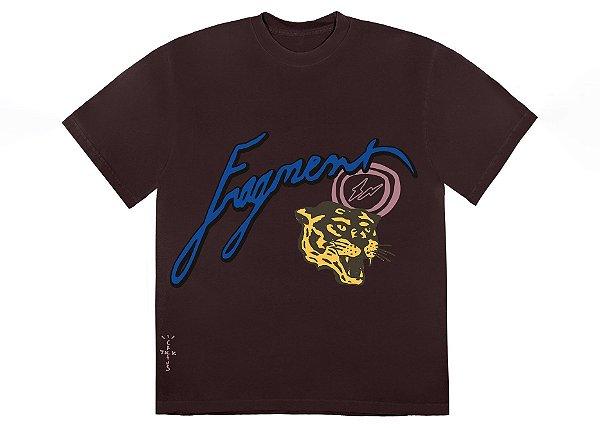 """TRAVIS SCOTT x FRAGMENT DESING - Camiseta Cactus Jack Icons """"Marrom"""" -NOVO-"""