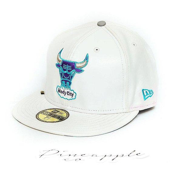 """NEW ERA - Boné NBA Classics Chicago Bulls """"Branco"""" -USADO-"""