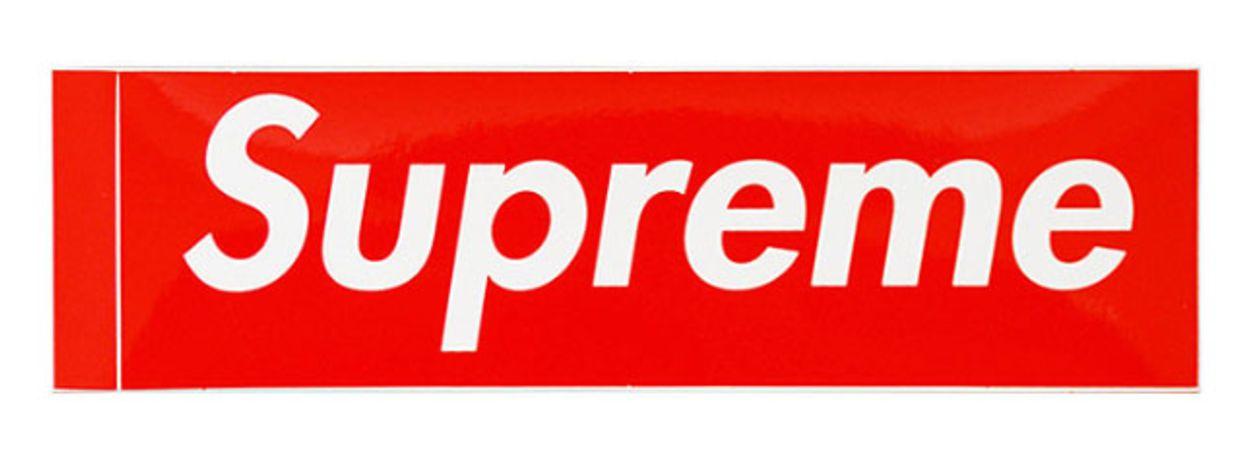 SUPREME - Adesivo Red Box Logo