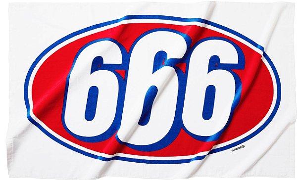 """SUPREME - Toalha 666 """"Branco"""" -NOVO-"""
