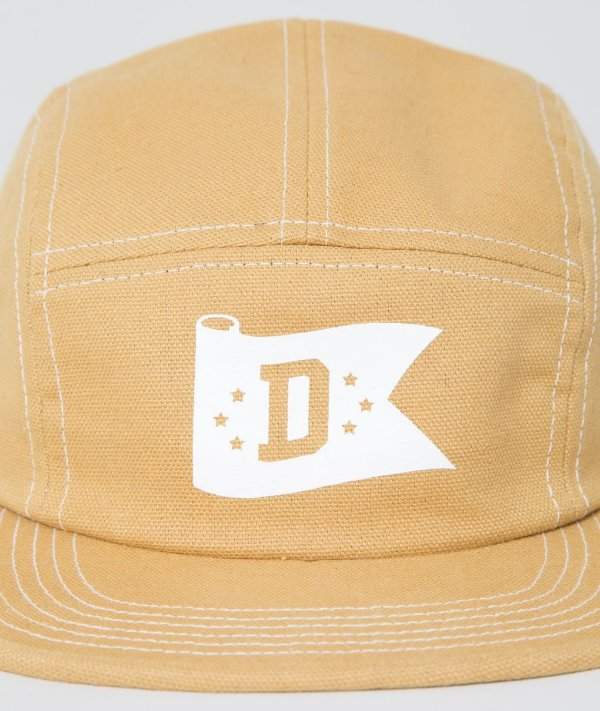 "DQM NEW YORK - Boné Canvas Flag Contrast 5-Panel ""Tan"""