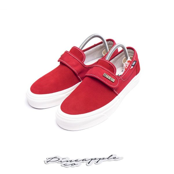 "VANS x FEAR OF GOD - Slip-On 47 V DX ""Red"" -NOVO-"
