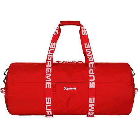 """SUPREME - Mala Duffle Grande Cordura Ripstop Nylon SS18 """"Red"""""""