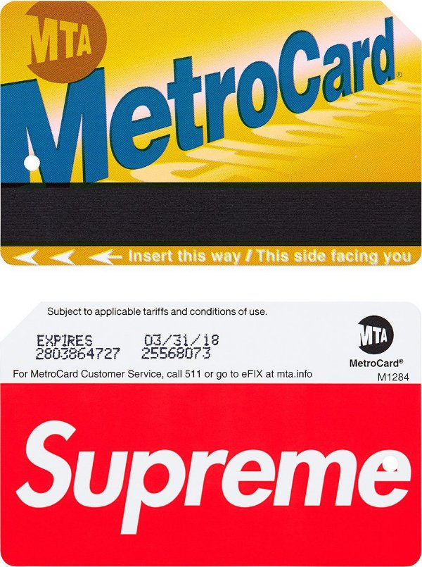 "SUPREME - Metrocard ""Vermelho""  -NOVO-"