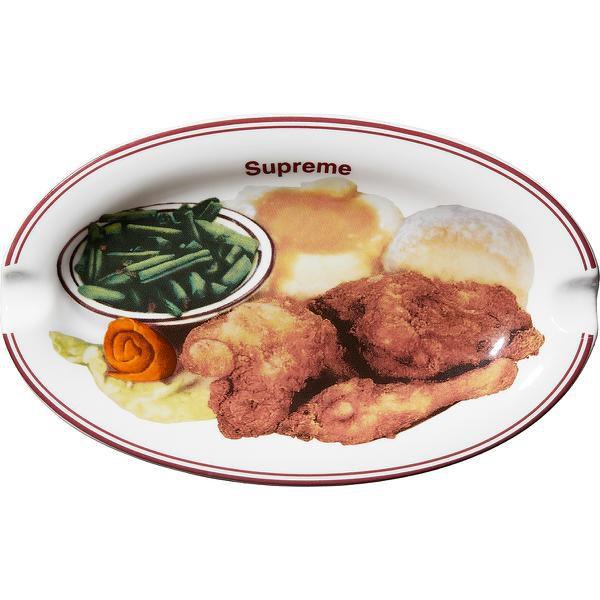 """SUPREME - Cinzeiro Chicken Dinner Plate """"Branco"""" -NOVO-"""