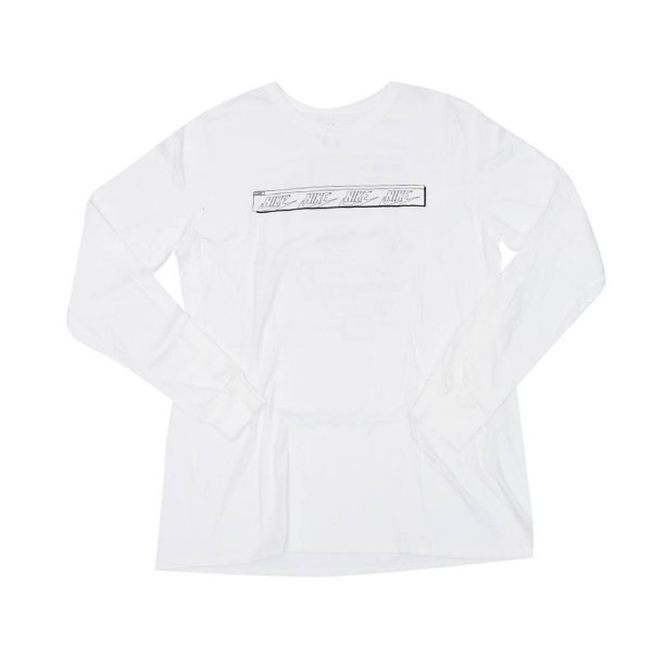 "NIKE - Camiseta Manga Longa NYC Pop Up ""Branco"" -NOVO-"