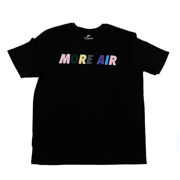 """NIKE - Camiseta More Air """"Preto"""" -NOVO-"""