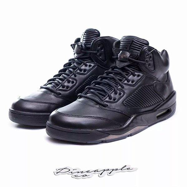 "NIKE - Air Jordan 5 Retro Premium ""Triple Black"" -NOVO-"