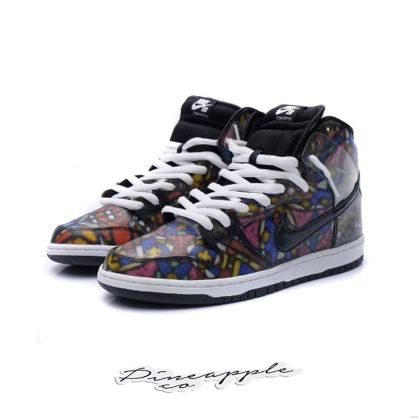"""NIKE x CONCEPTS - SB Dunk High """"Stained Glass"""" -USADO-"""