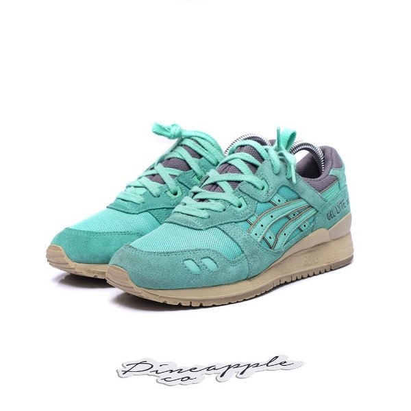 "ASICS - Gel Lyte III KITHSTRIKE ""Cockatoo Green"" -USADO-"