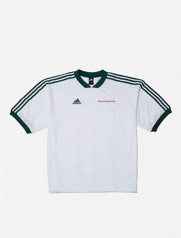 """ADIDAS x GOSHA RUBCHINSKIY - Camiseta Jersey """"Branco"""" -NOVO-"""
