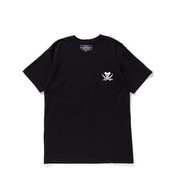 """NEIGHBORHOOD X MEDICOM - Camiseta EX """"Preto"""" -NOVO-"""