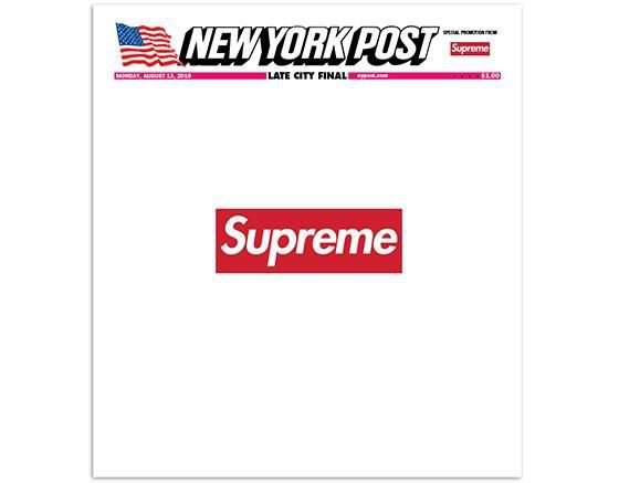 Supreme x The New York Post - Jornal