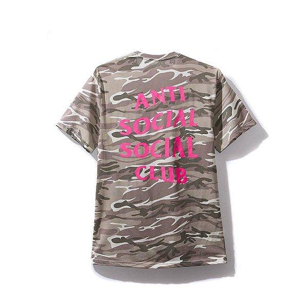 "ANTI SOCIAL SOCIAL CLUB - Camiseta Ghost Camo ""Rosa"" -NOVO-"