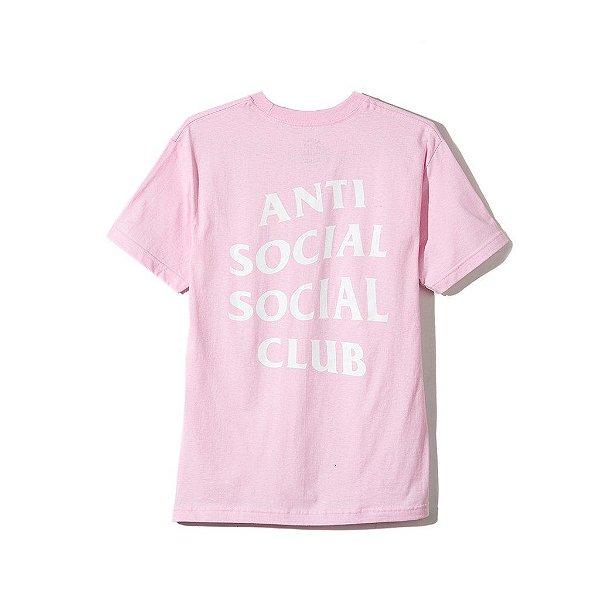 "ANTI SOCIAL SOCIAL CLUB - Camiseta Logo 2 ""Rosa"" -NOVO-"