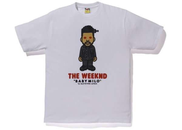 "BAPE x THE WEEKND - Camiseta Xo ""Branco"" -NOVO-"