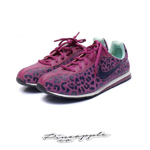 "NIKE - Little Runner Print Suede ""Purple"" (Feminino) -USADO-"