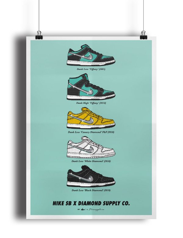 POSTER - Nike SB x Diamond Supply Co. -NOVO-