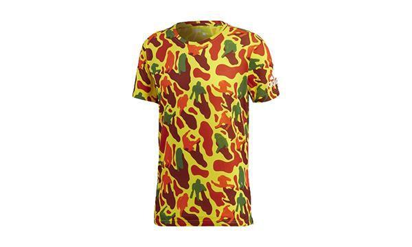 """ADIDAS x PHARRELL WILLIAMS - Camiseta N.E.R.D """"Vermelho/Amarelo"""" -NOVO-"""