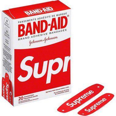 """SUPREME x JOHNSON & JOHNSON - Band-aid (UNITÁRIO) """"Vermelho"""" -NOVO-"""