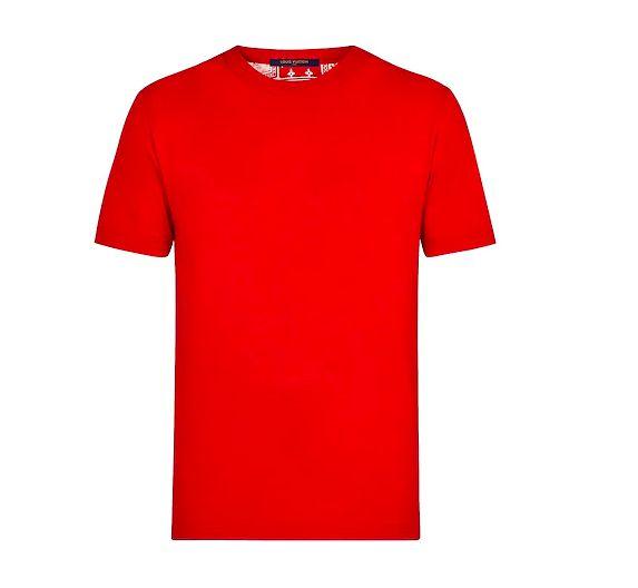 """LOUIS VUITTON - Camiseta Printed Card Back """"Vermelho"""" -NOVO-"""