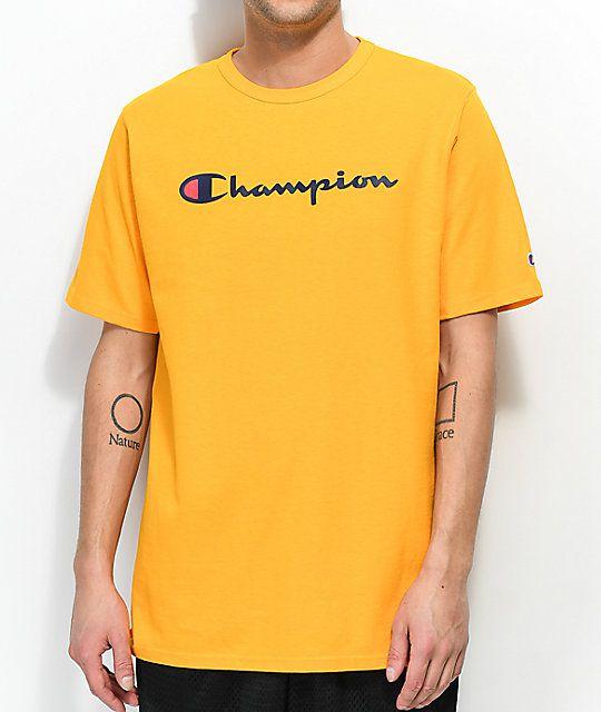"CHAMPION - Camiseta Graphic Jersey ""Amarelo"" -NOVO-"