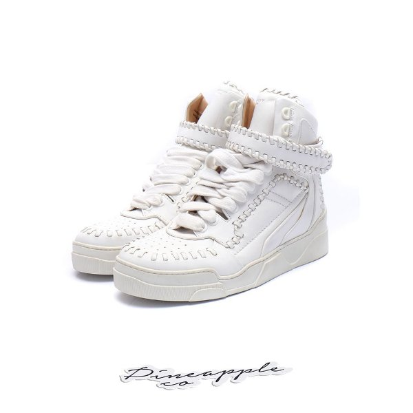 """Givenchy Tyson Whipstitched High-Top Sneaker """"White"""""""