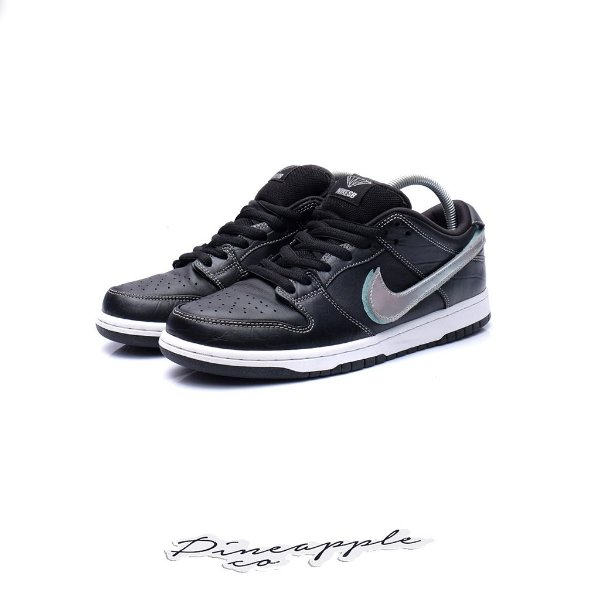 "NIKE x DIAMOND SUPPLY CO. - SB Dunk Low Pro ""Black Diamond"" -USADO-"